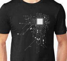 CPU Computer Heart White Unisex T-Shirt