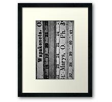 Measure Up Framed Print