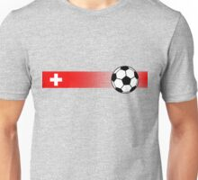 Football Stripes Switzerland Unisex T-Shirt