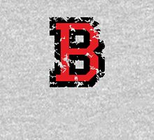 Letter B (Distressed) two-color black/red character Unisex T-Shirt