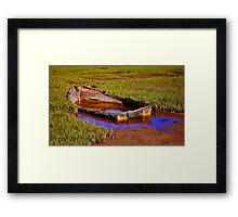 sunken and abandoned Framed Print