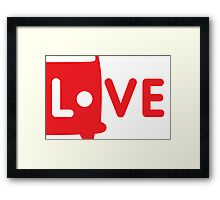 VW Camper Love Framed Print