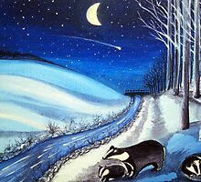 Badgers brook midwinter by Yorkspalette