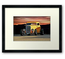 1934 Ford 'Mango Madness' Coupe Framed Print
