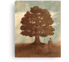 Invisible Man Goes For A Walk  Canvas Print
