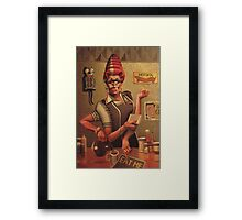 Diner Betty Framed Print