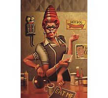 Diner Betty Photographic Print