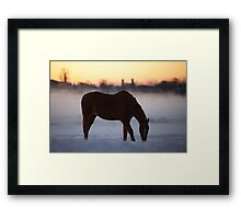 First Light on the Frosty Farm Framed Print