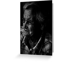 Portrait of age Greeting Card