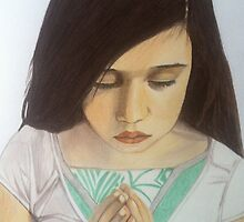 Roxanna --- Girl Praying by Saribelle Rodriguez by Saribelle Rodriguez
