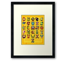 Super Alphabet Poster Framed Print