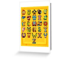 Super Alphabet Poster Greeting Card