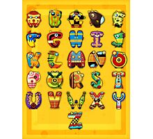 Super Alphabet Poster Photographic Print