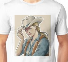 blonde cowgirl Unisex T-Shirt