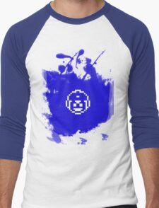Blue Bomber (Mega Man/Rockman) Grafitti Men's Baseball ¾ T-Shirt
