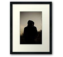 Hooded Silhouette  Framed Print
