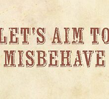 Let's Aim to Misbehave Valentine Card by stella999