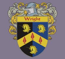 Wright Coat of Arms / Wright Family Crest Kids Tee