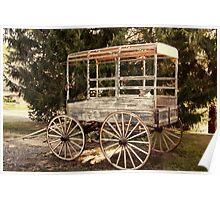 Old Milk Cart Poster