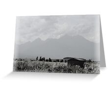 Slovak Mountain Landscape Greeting Card