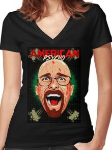 American Psycho Heisenberg Edition Women's Fitted V-Neck T-Shirt