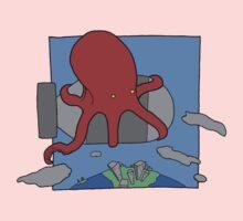 An Octopus. Riding a bomb. Kids Tee
