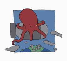 An Octopus. Riding a bomb. by NateRainey