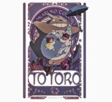 My neighbor Totoro - Art Nouveau by JdesignsNL