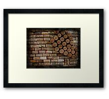 Wine Cork Wall 353 Framed Print