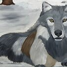 Lone Grey Wolf 2014 by towncrier