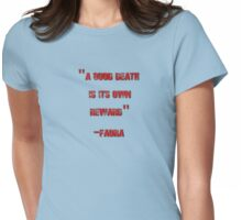 Faora's Death Speech Womens Fitted T-Shirt