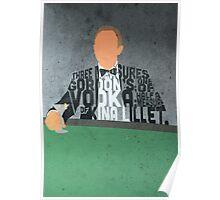Daniel Craig in James Bond Casino Royale Typography Design Poster