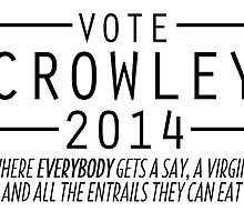 Supernatural - Vote Crowley (Black) by ffiorentini