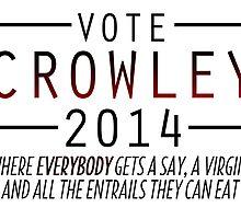 Supernatural - Vote Crowley (Red) by ffiorentini