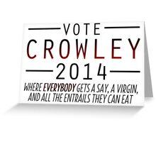 Supernatural - Vote Crowley (Red) Greeting Card