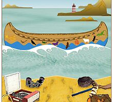 Canoe to Moonrise Kingdom by Steven House