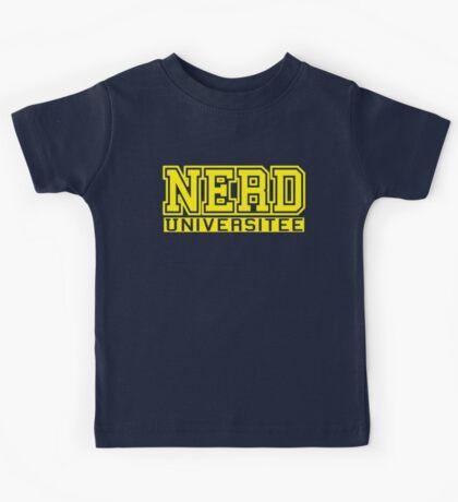 Student of Nerd Universitee Kids Tee