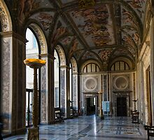 The Opulent Loggia in Villa Farnesina, Rome, Italy - 1 by Georgia Mizuleva