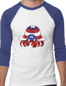 CRABTAIN AMERICA Men's Baseball ¾ T-Shirt