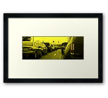 Saturday Traffic Framed Print
