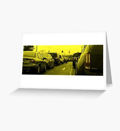 Saturday Traffic Greeting Card