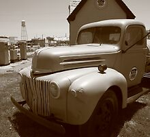 Route 66 Truck and Gas Station by Frank Romeo