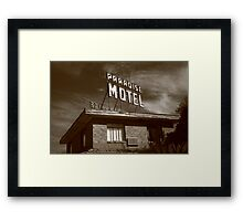 Route 66 - Paradise Motel Framed Print
