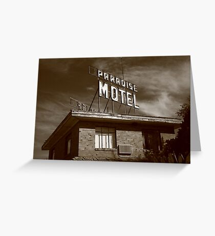 Route 66 - Paradise Motel Greeting Card