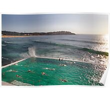 Iceberg Pool at Bondi, Sydney Poster