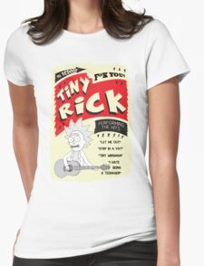 Tiny Rick Concert Poster Womens Fitted T-Shirt
