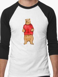 Poo The Bear Men's Baseball ¾ T-Shirt