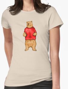 Poo The Bear Womens Fitted T-Shirt