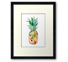 Pineapple print Framed Print
