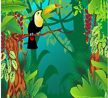 Toucan in the Jungle by M R Fakhrurrozi
